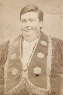 """John Powers """"The Kentucky Giant"""". One of PT Barnum's Famous Side Show performers"""