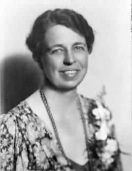 Eleanor Roosevelt, first lady of the United States (1933-1945) and delegate to the United Nations General Assembly. (Rebekah)