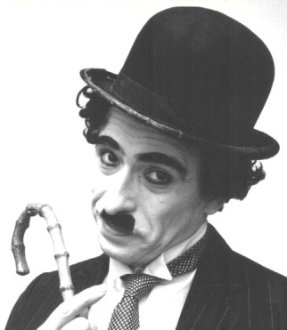 Charlie Chaplin, famous actor and comedian